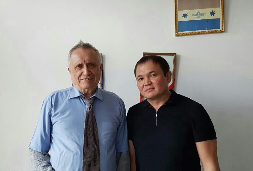 With professor Victor Inushin, Almaty 2016