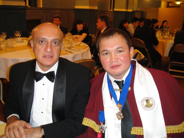 The Ambassador of Azerbaijan to the UK Fakhraddin Gurbanov, Berik Zhangirbayev, Oxford, 2009